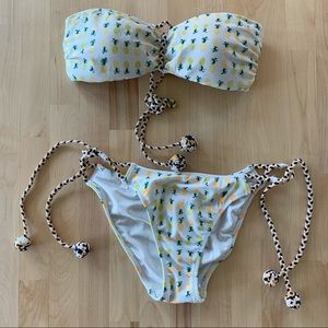 Victoria Secret pineapple print Bikini Set - SizeM
